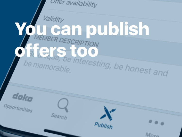 You can publish offers too